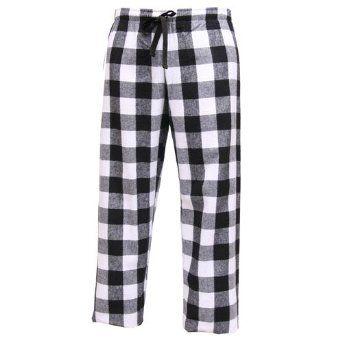 Mens Casual Buffalo Plaid Pajama Pants Cotton Comfort Lounge Bottom Sleep Pant