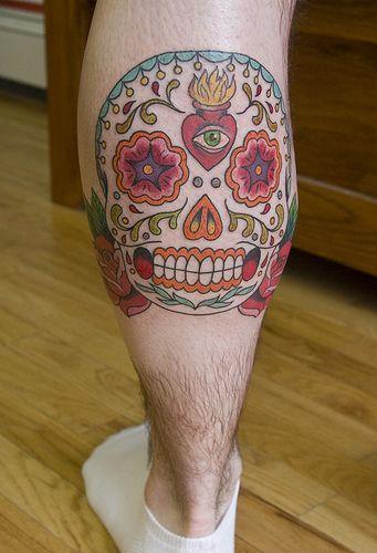 Calaveras tattoo by Sunny Buick