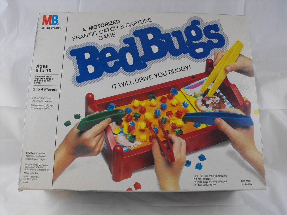 Vintage 1980s Retro Battery Operated Bed Bugs Classic Game Milton