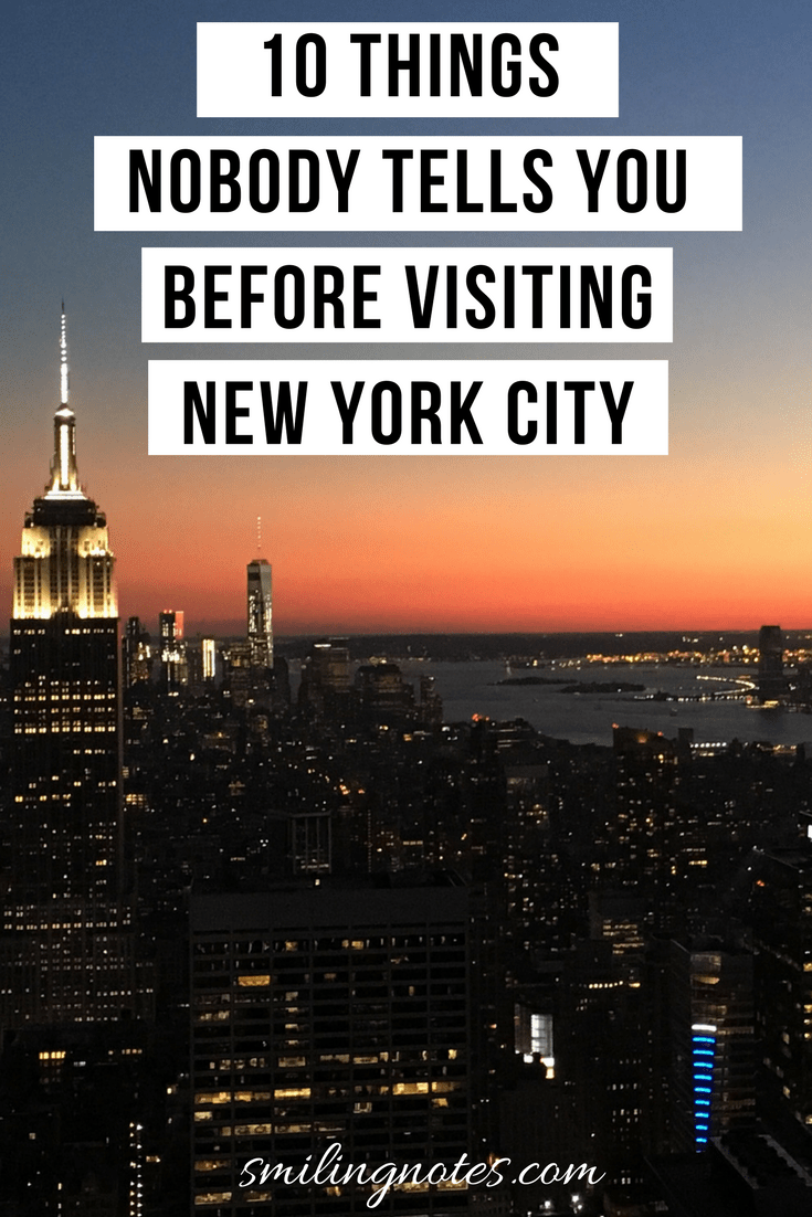 10 Things Nobody Tells You Before Visiting New York City