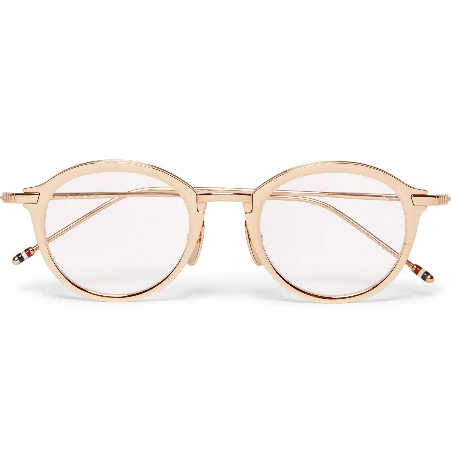 fdaa4bbf5f02 THOM BROWNE Round-Frame Gold-Tone Titanium Optical Glasses £725 Crafted in  Japan from gold-tone titanium
