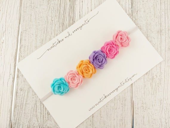 pastel rainbow felt flower crown, felt flower crown, flower headband, felt flower headband, rainbow #feltflowerheadbands