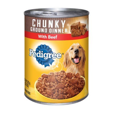 12 Pack Pedigree Meaty Ground Dinner With Chunky Beef Wet Dog