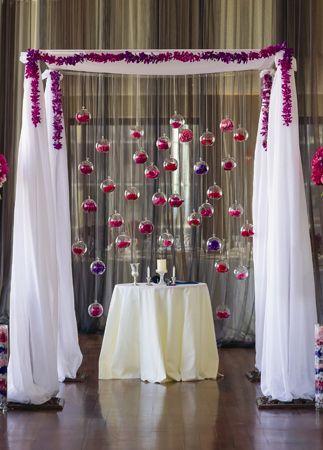 wedding globe interior