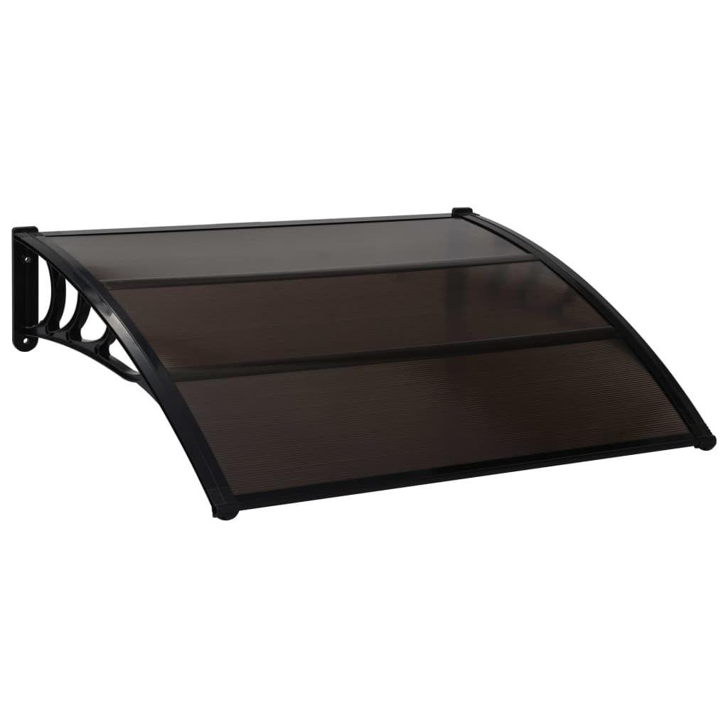 Door canopy 150×100 cm plastic black