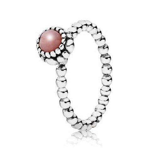 Pandora Pink Opal October Birthday Bloom Ring