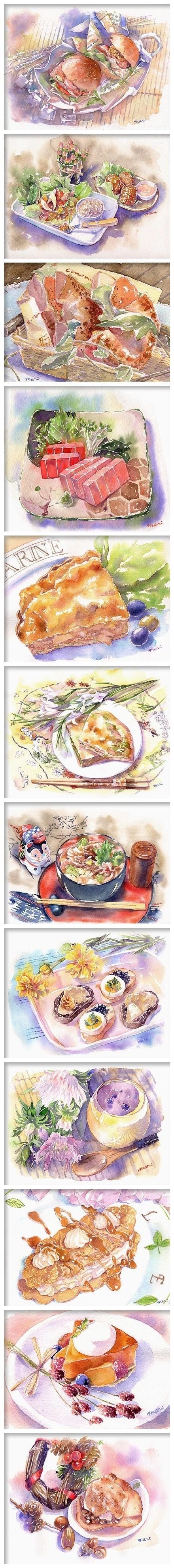 food watercolor