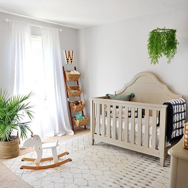 Our Little Baby Boy S Neutral Room: Our Inner Nature Girl Is LOVING These Pops Of Greenery