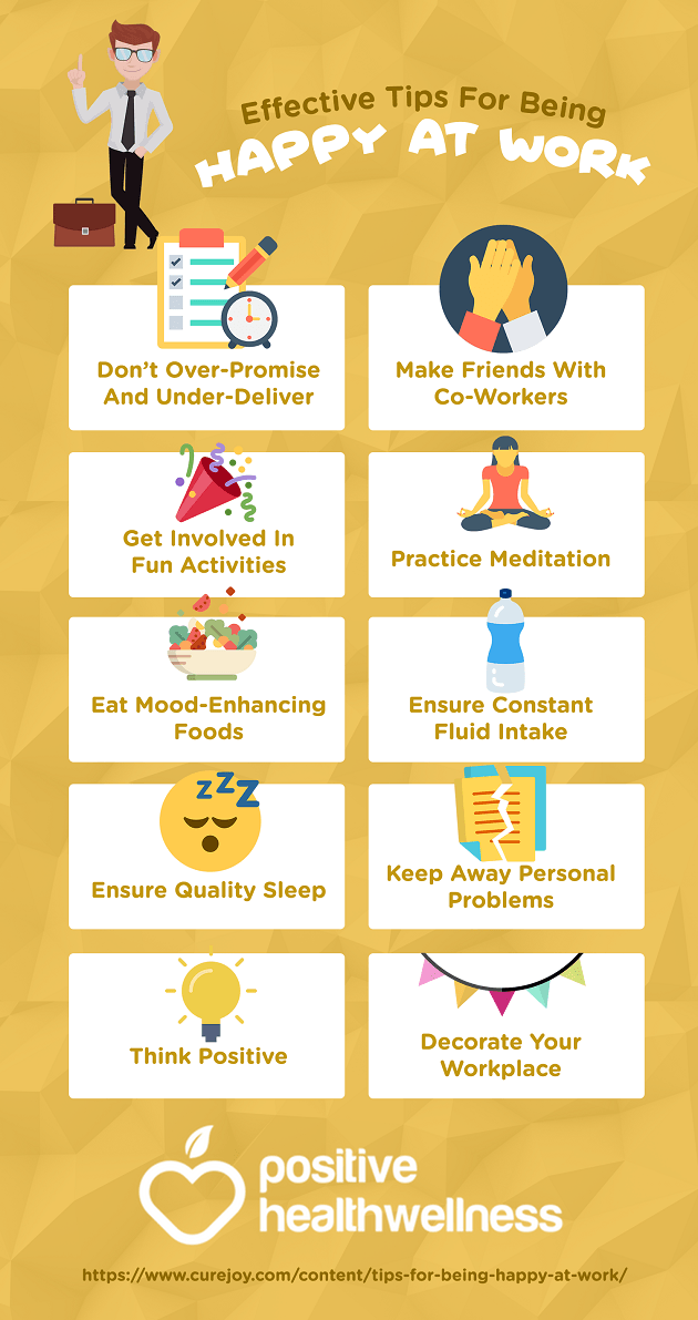 10 Effective Tips For Being Happy At Work Positive