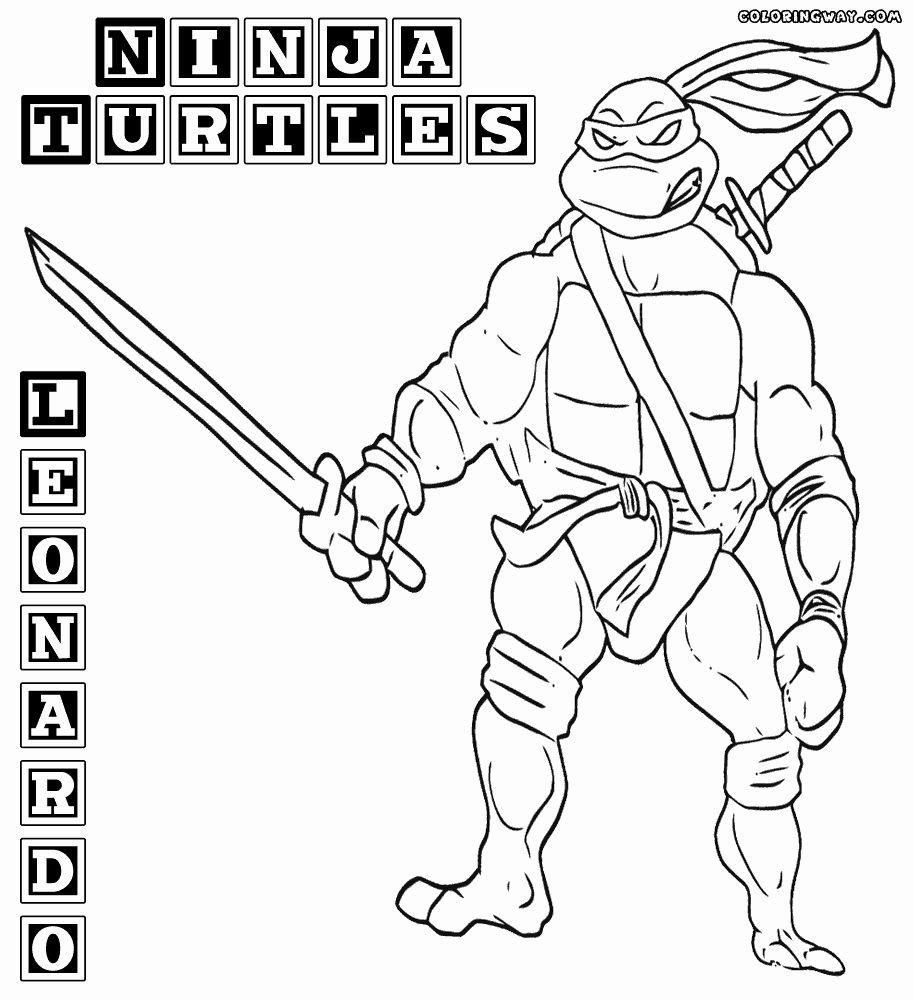 27 Ninja Turtle Coloring Book Leonardo ninja turtle