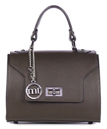 This Dark Brown Leather Mini Satchel is perfect! #zulilyfinds