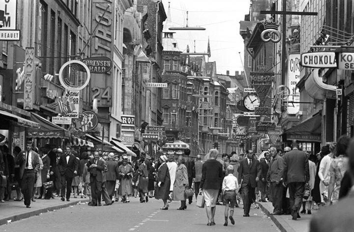 Stroget 1962 Kobenhavn Denmark Kobenhavn Billeder