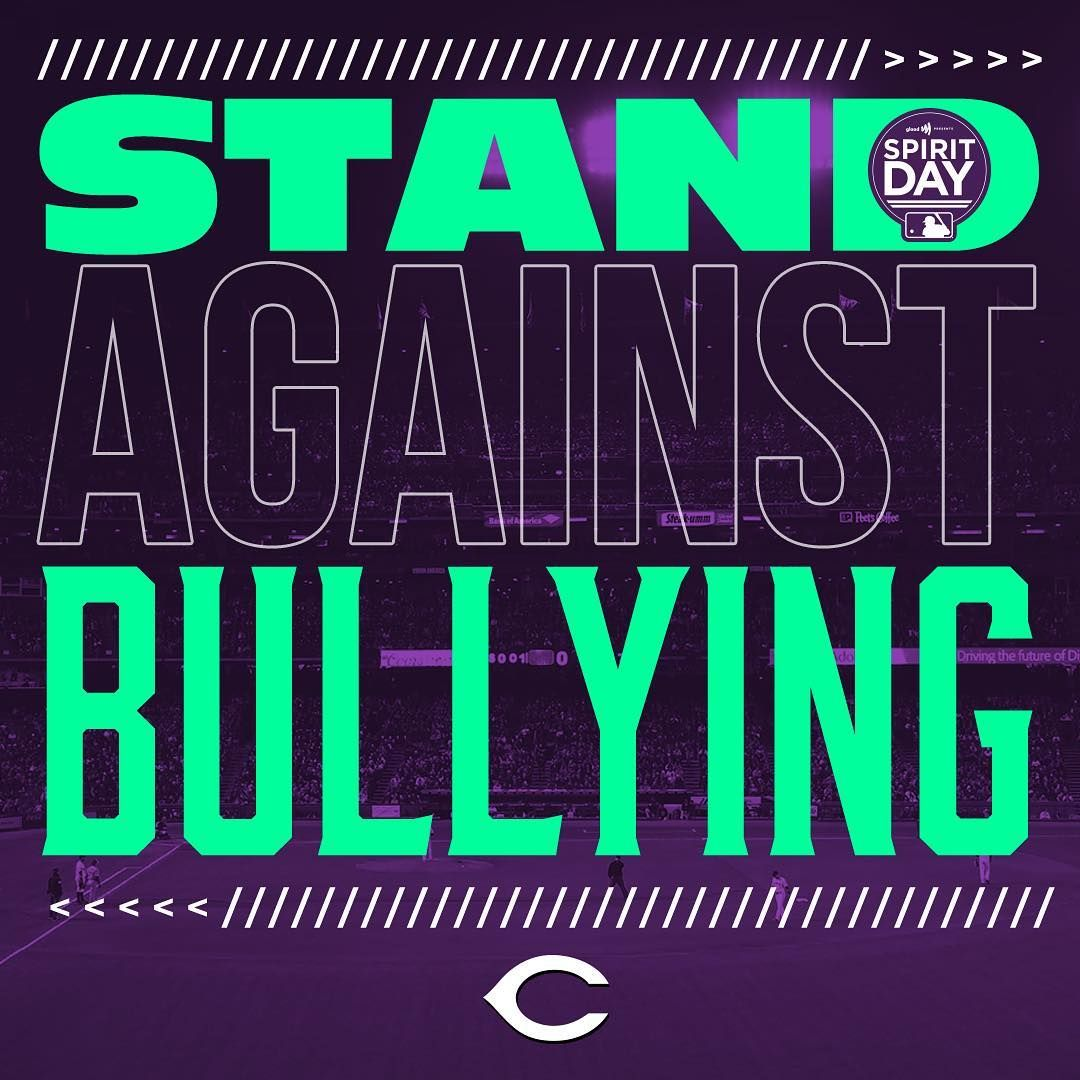 The Reds Join Mlb In Going Purple Today In Honor Of Spiritday To Speak Out Against Bullying Support Lgbtq Youth Glaad Org Sp Bullying Atlanta Braves Braves