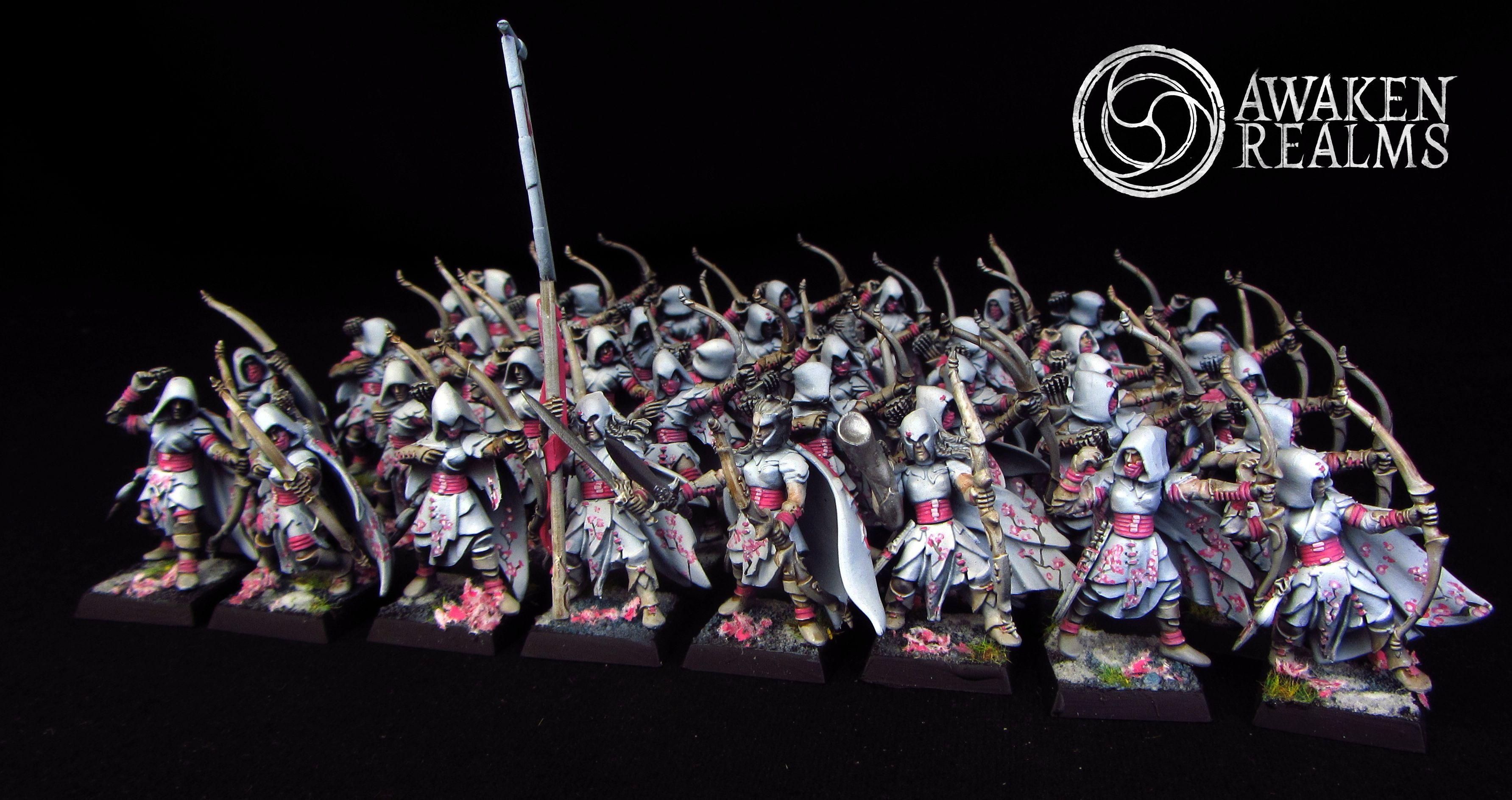 Wood Elves Glade Guards japanese cherry blossom style