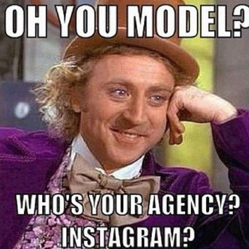 """Thank you! Cracks me up when I see people from high school like """"oh I'm back into modeling"""" were you ever in it?"""