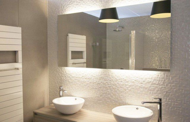 Luminaire salle de bains et am nagement en 53 id es cool - Luminaire pour salle de bain ikea ...