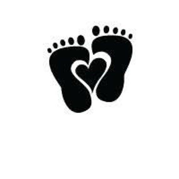 Baby Feet Heart Digital File Svg Png Jpg Cricut Etsy Creative Baby Shower Baby Shower Gift Bags Baby Feet