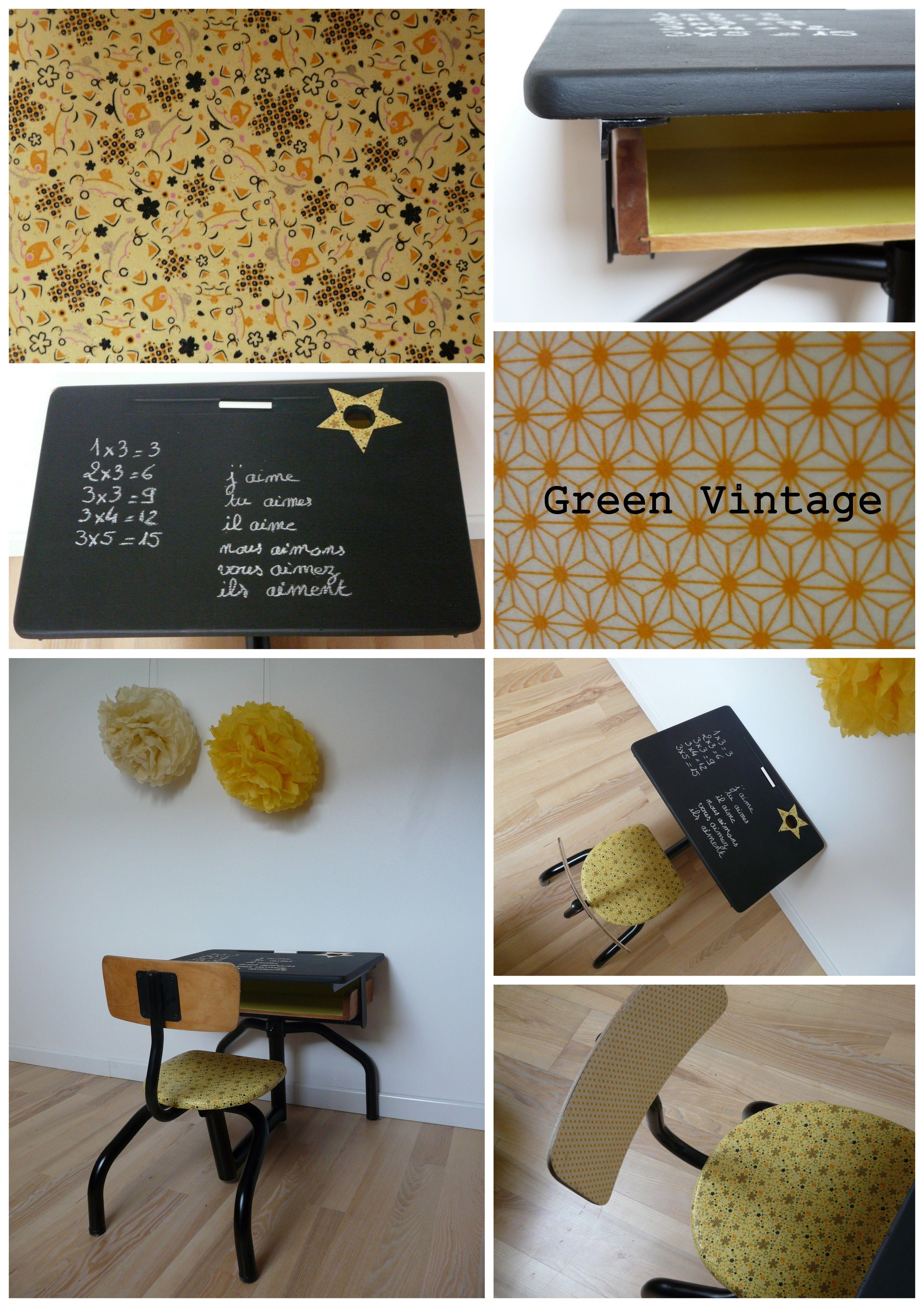 Repeindre Un Bureau D Écolier bureau d'écolier vintage décoré dans les tons de jaune
