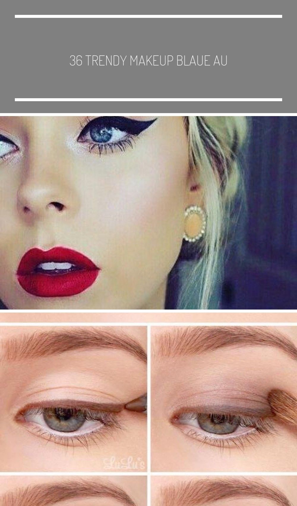 36 Trendy Makeup Blaue Augen Blondes Haar Rote Lippen Lippenstifte - ... - up for blue eyes blonde