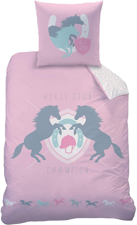 Pferde Bettwäsche Set In Biber Mädchenbettwäsche Kinderbettwäsche Best Friends Pferd Punkte In Rosa Bettwäsche Kinder Mädchen Bett Winterbettwäsche