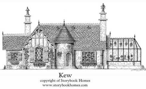 storybook home plans kew cottage