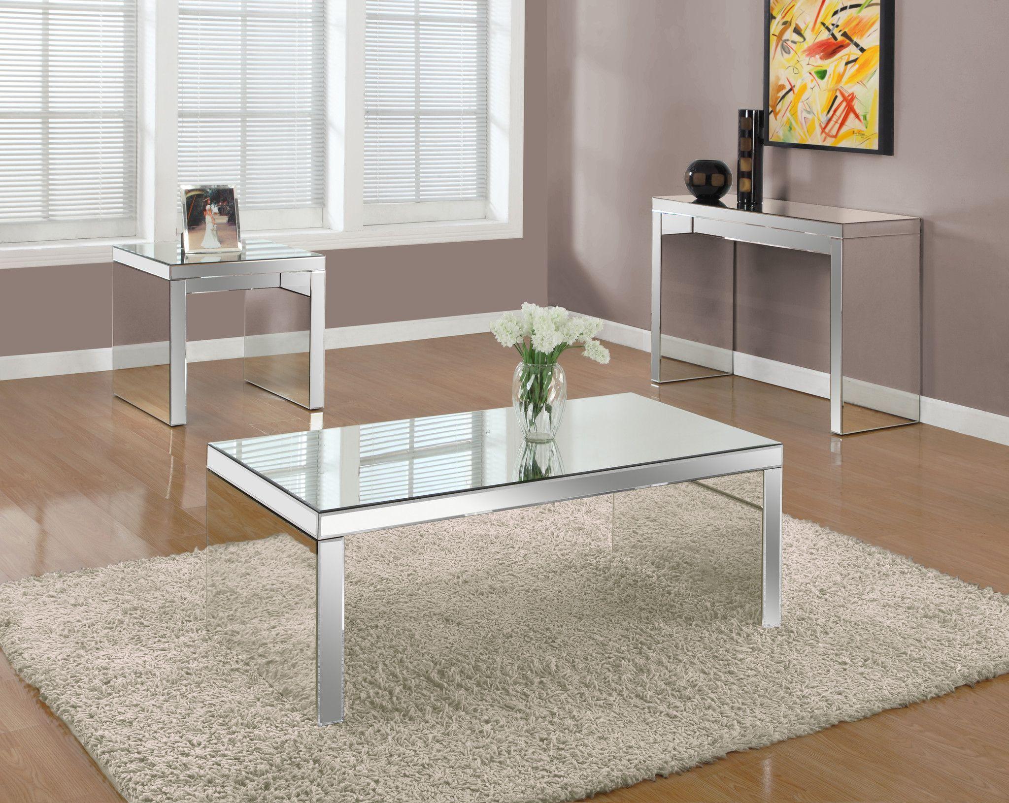 """Coffee Table 48""""X 24"""" / Mirror Coffee table, Furniture"""