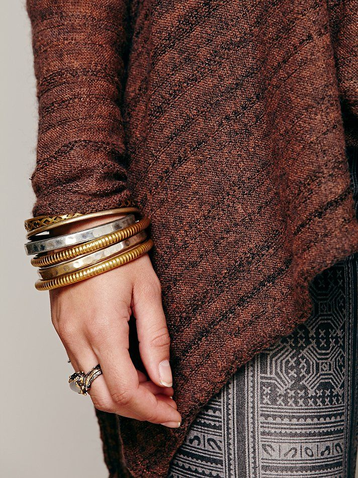 Free People Zebra Ovrsized Cowl Neck at Free People Clothing Boutique