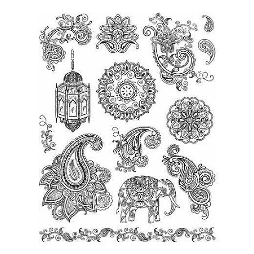 Muster Zuk 252 Nftige Projekte Indische Muster Elefant