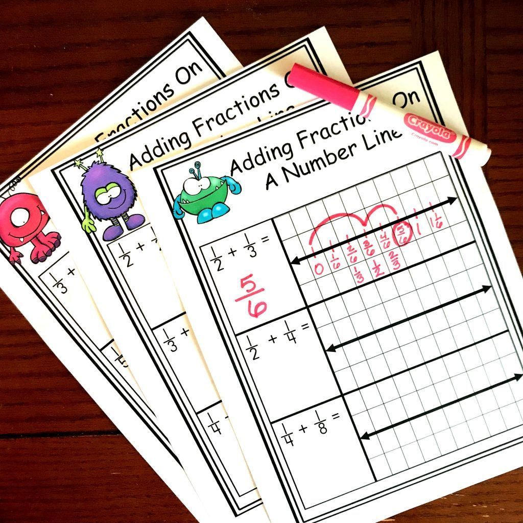 Free Worksheets For Adding Fractions With Unlike