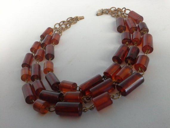 Original Art Deco Cherry Red Amber Bakelite Triple