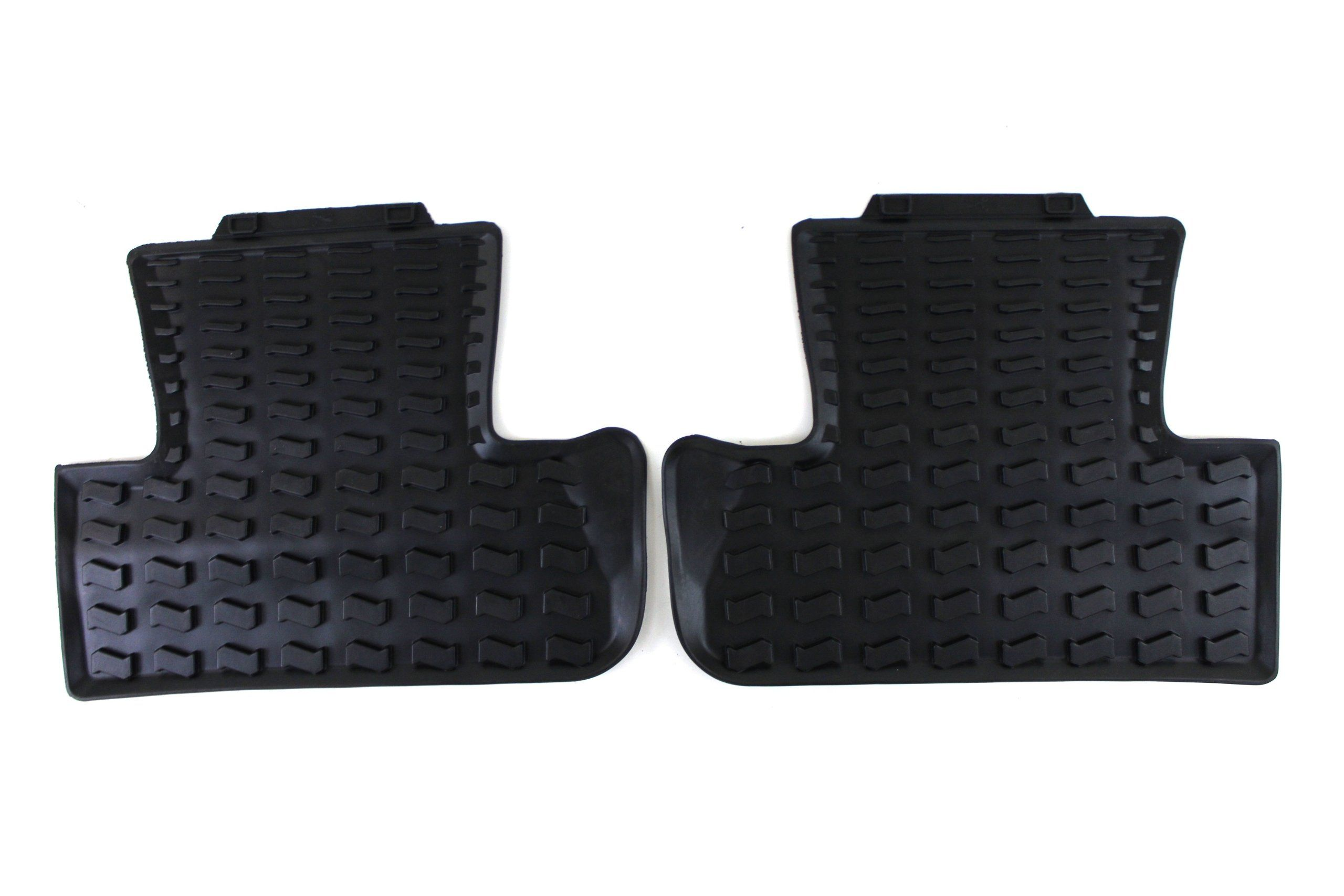 Genuine Audi Accessories 8r0061511041 Black Rubber Rear Floor Mat