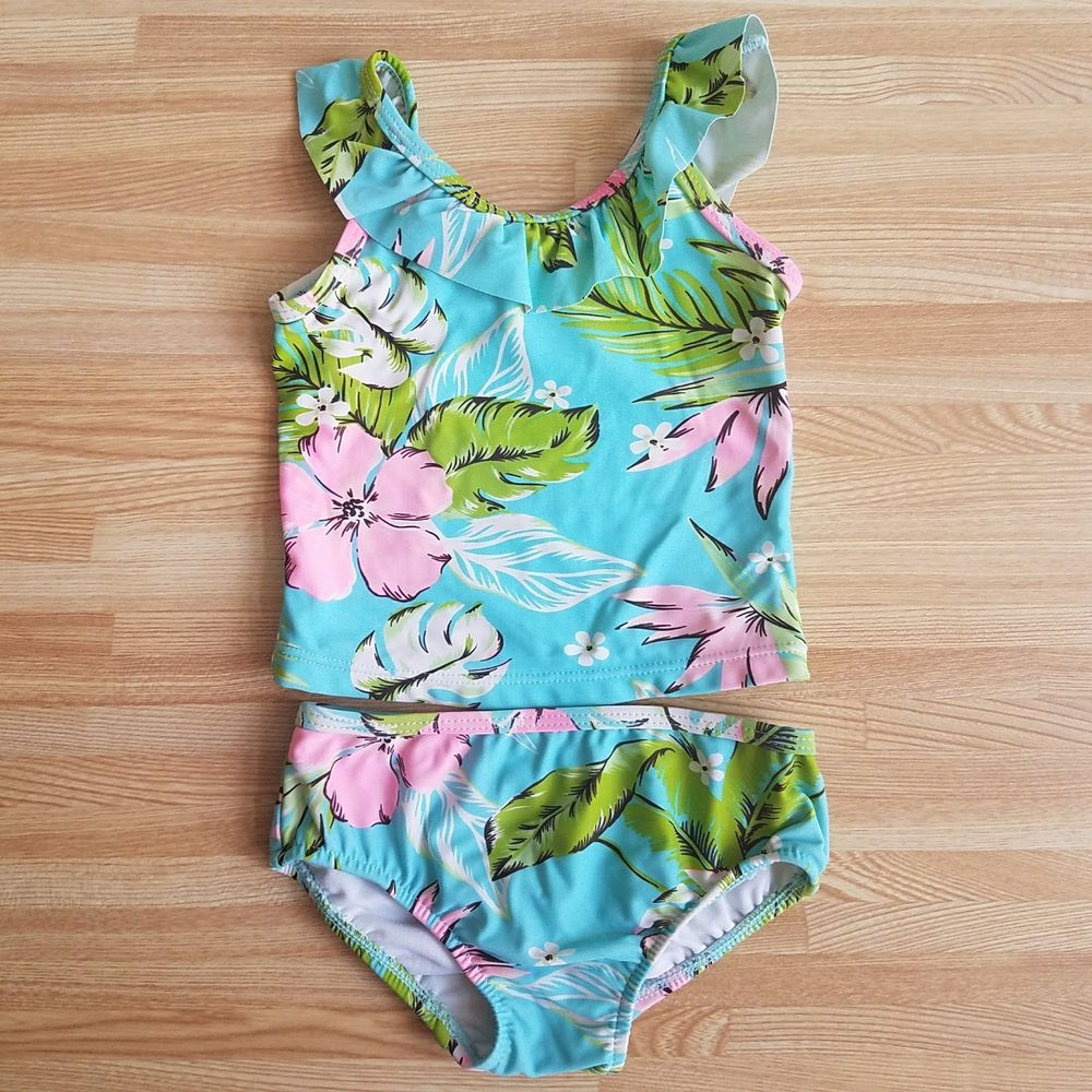 Carter S 12 Month Girl 2 Piece Hawaiian Bathing Suit Fashion Clothing Shoes Accessories Babytoddlerclothin Girl Outfits Bathing Suits Floral Bathing Suits