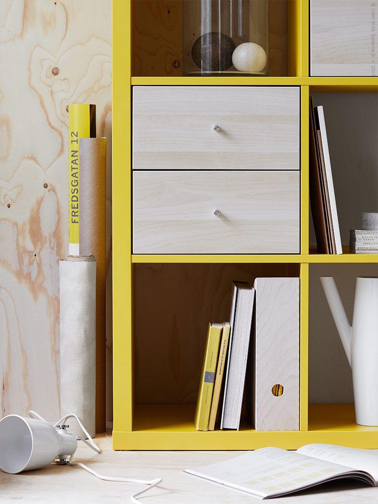 Kallax Egen Lyskraft Kallax Ikea Ikea Boxes Ikea Yellow