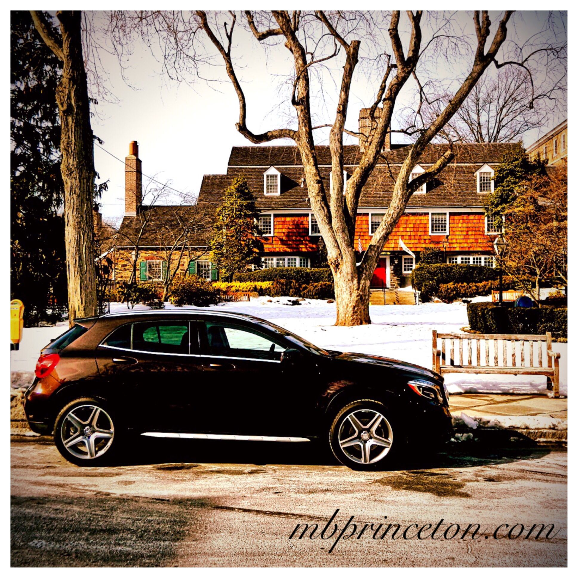 2015 Mercedes-Benz GLA250 in front of the Nassau Inn at ...