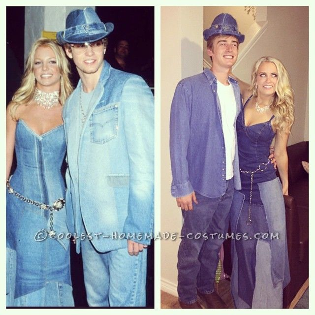 b458fe92d93 Sexy Britney Spears and Justin Timberlake Couples Costume