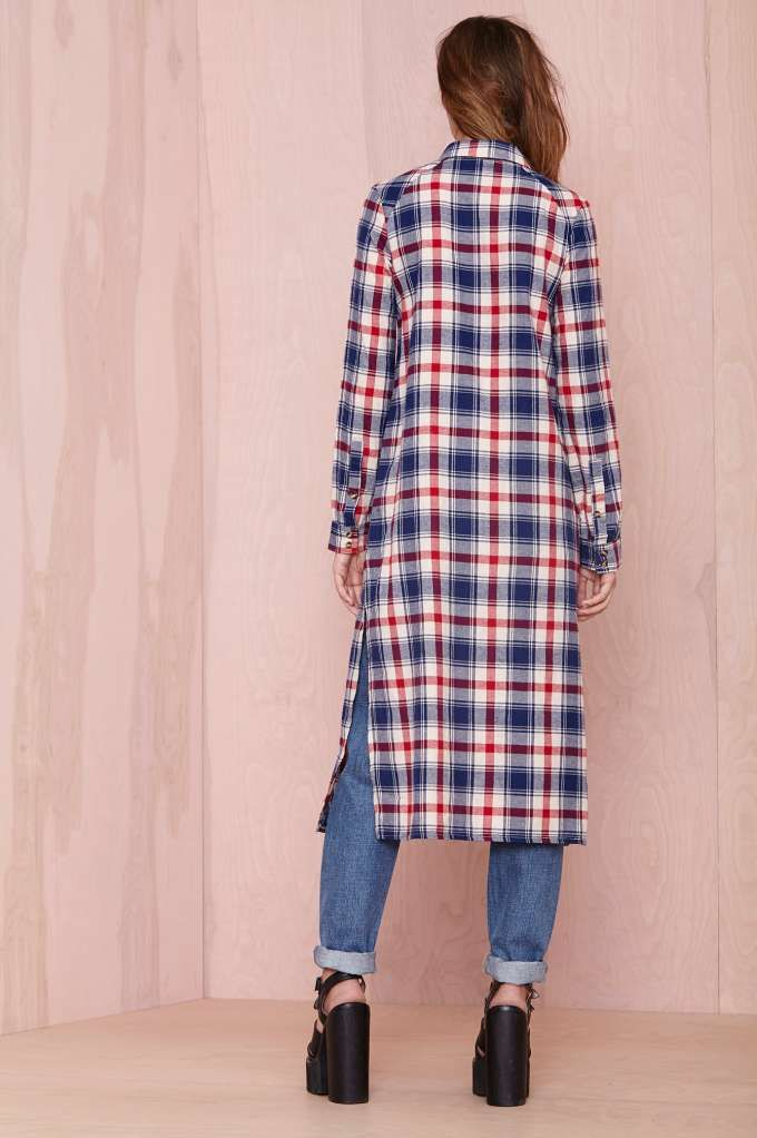 To The Floor Top   Fall Of The Wild   Shirts + Blouses   Plaid U0026