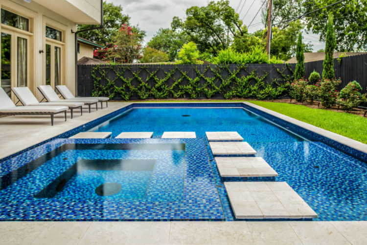 20 Gorgeous Pool Designs With Alternative Finishes Pool Tile Swimming Pool Tiles Swimming Pool Prices