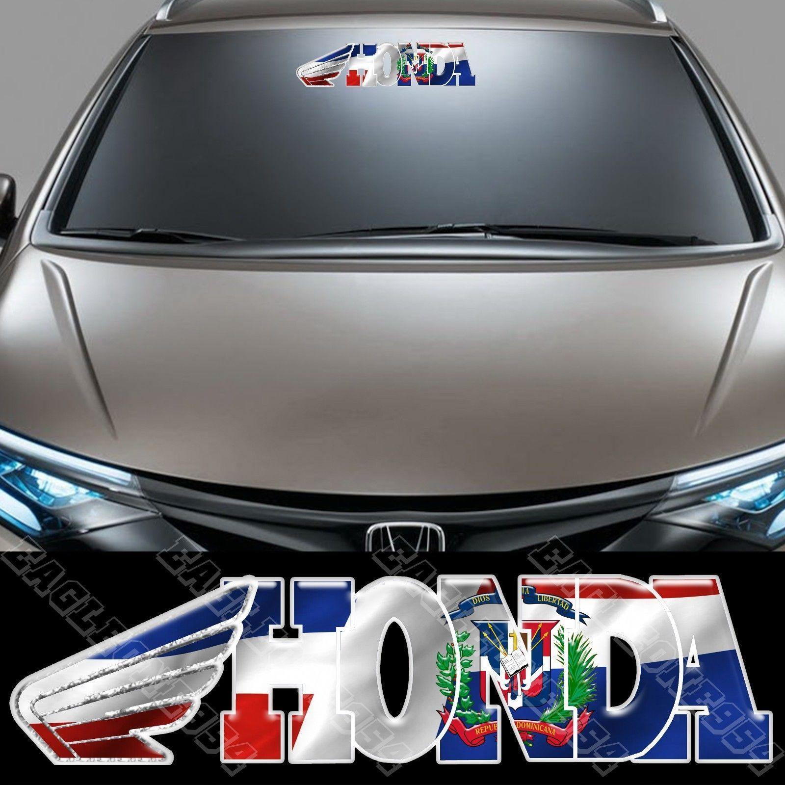 1x Dominican Republic Racing Flag Decal Fits Honda 2705 Flag Decal Flag Vinyl Decals [ 1600 x 1600 Pixel ]