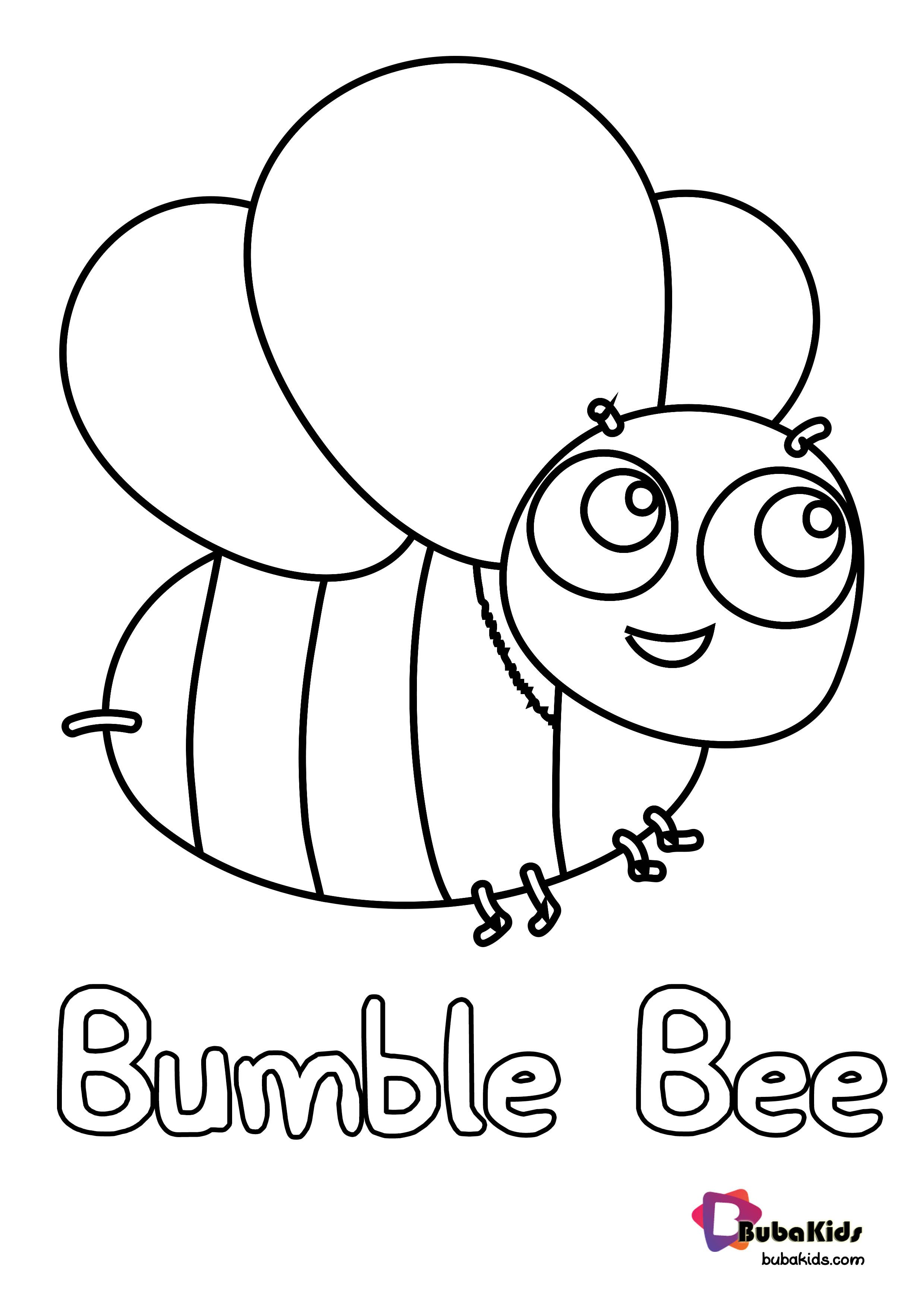 Bumblebee Insect Coloring Pages Background