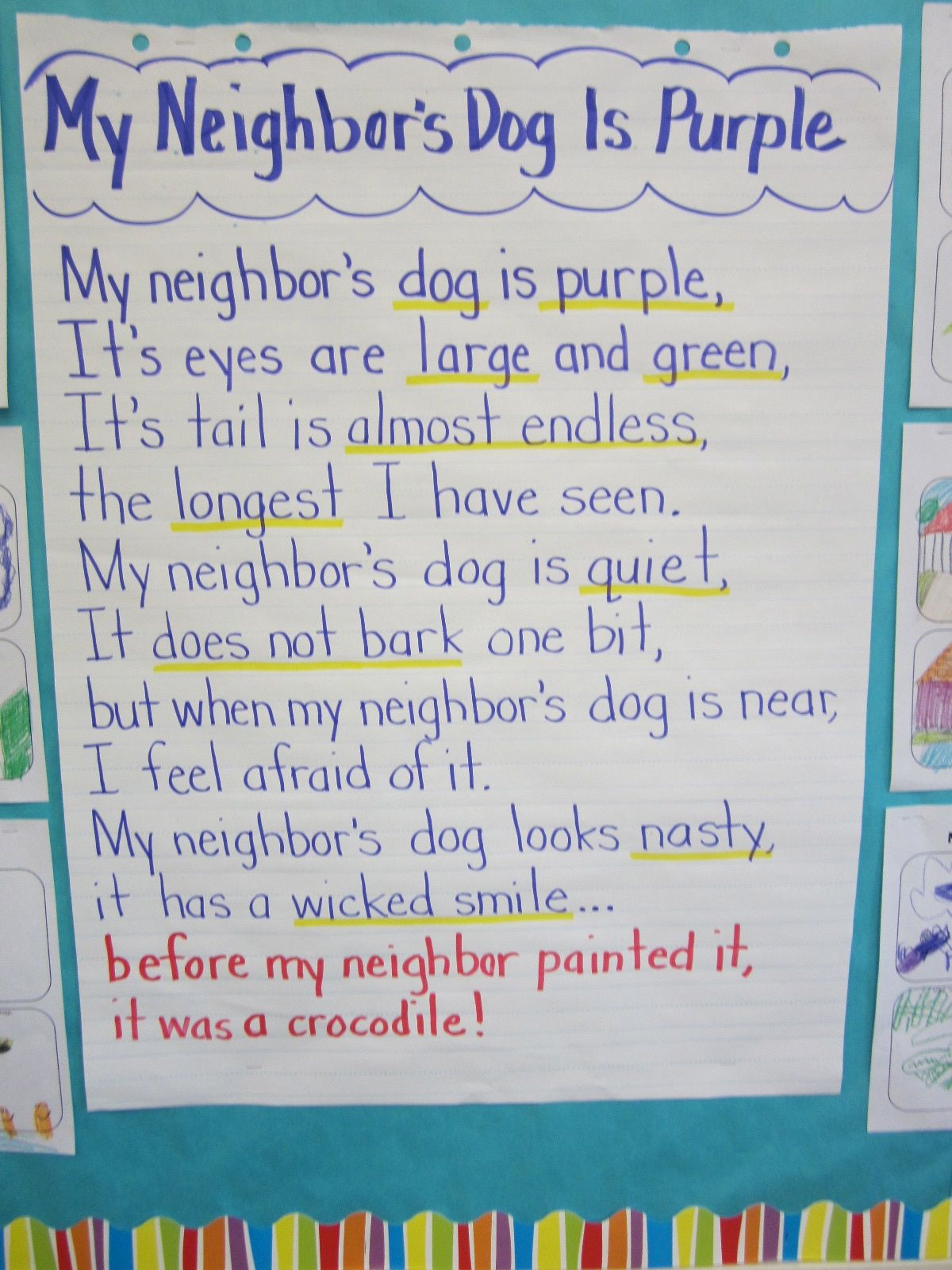 Lacy S Letters My Neighbor S Dog Is Purple