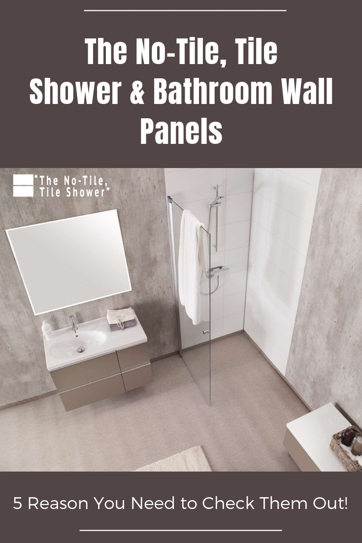 The No Tile Tile Shower Bathroom Wall Panels 5 Reasons You Need To Check Them Out Bathroom Wall Panels Laminate Shower Panels Waterproof Bathroom Wall Panels