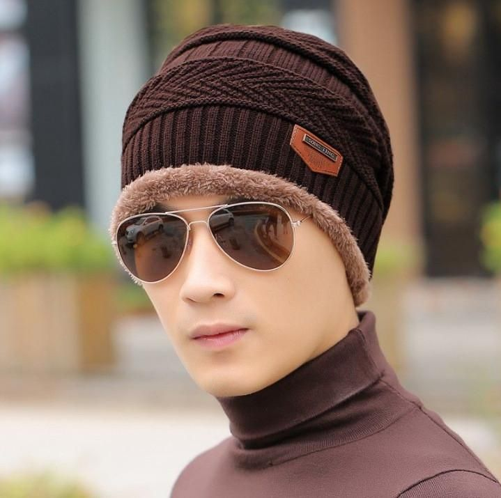 7f0be0ced0b 2016 New Fashion Winter Warm Knit Hat Autumn Winter Men Women High Quality  Baggy Wool Knitted Hats 5 Colors
