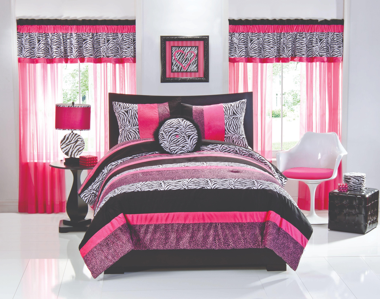 Luxury White Themes Design Room for Teenage Girls with Elegant Black ...
