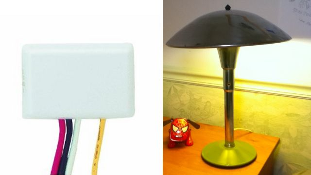 Turn A Lamp On And Off Just By Touching It With This Diy Tweak Touch Lamp Lamp Switch Lamp Light