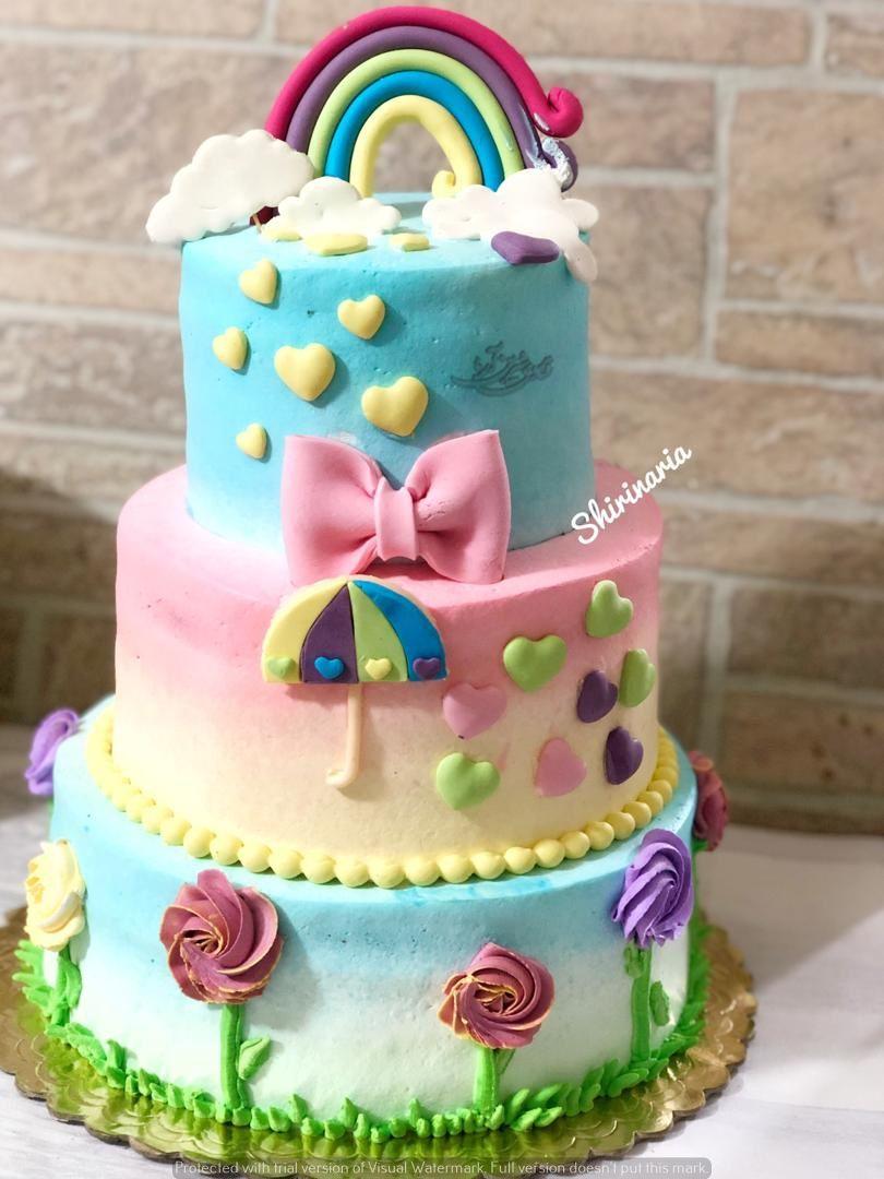 كيك رنگين كمان Desserts Cake Birthday Cake