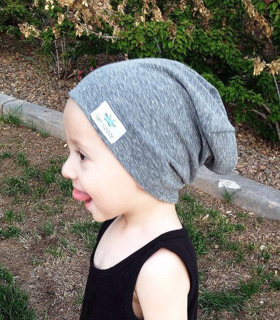 cf844a51 Baby slouchy beanie/ Toddler boy slouch beanie/ Gray hipster beanie/ Slouchy  knit hat/ slouchy infant beanie