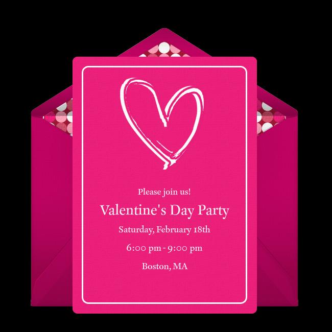 free heart scribble invitations in 2020