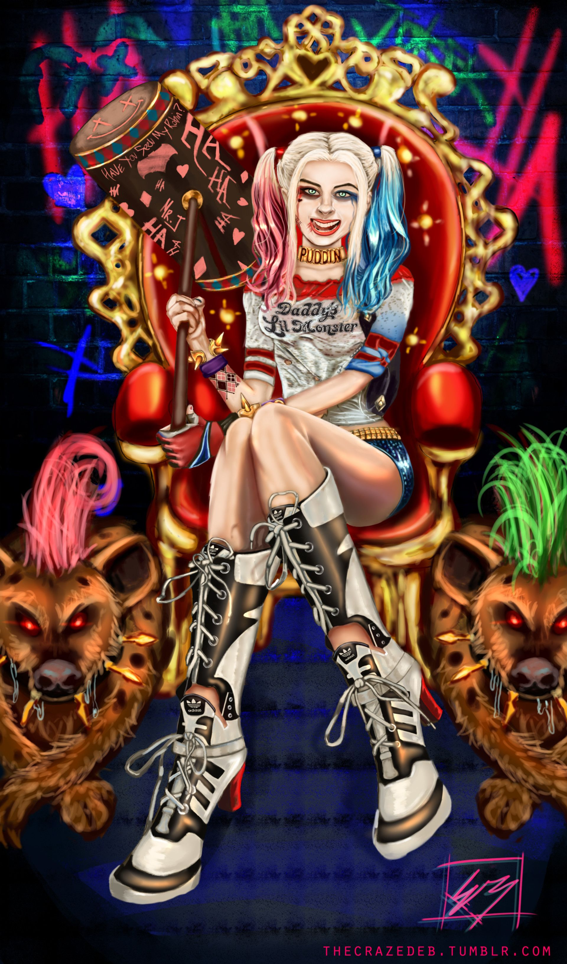Queen of Gotham Harley Quinn/her pets Bud and Lou, Ethan Brentson