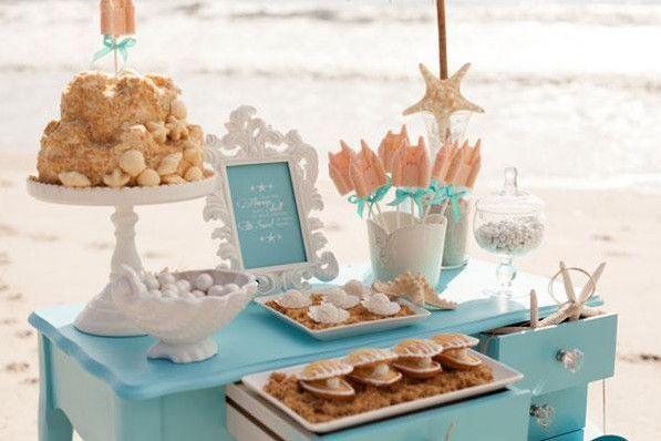 beach bridal shower decorations