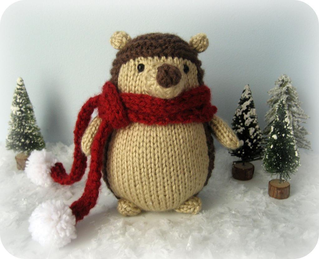 Christmas Hedgehog Knitting Pattern : Knit Hedgehog Amigurumi Pattern free Patronen , Knit ...